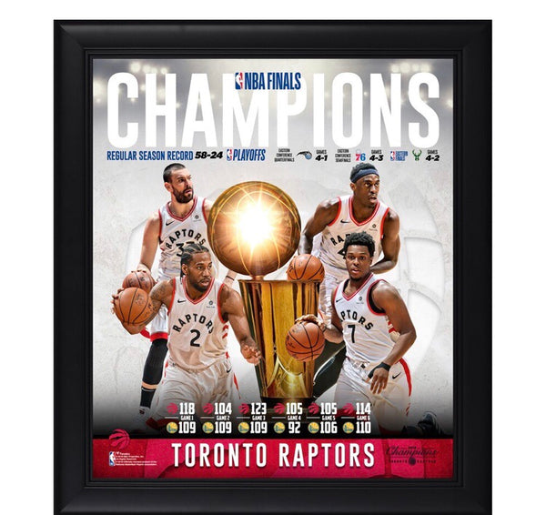 Toronto Raptors - 2019 Champions Framed Collage (38cm x 43cm)