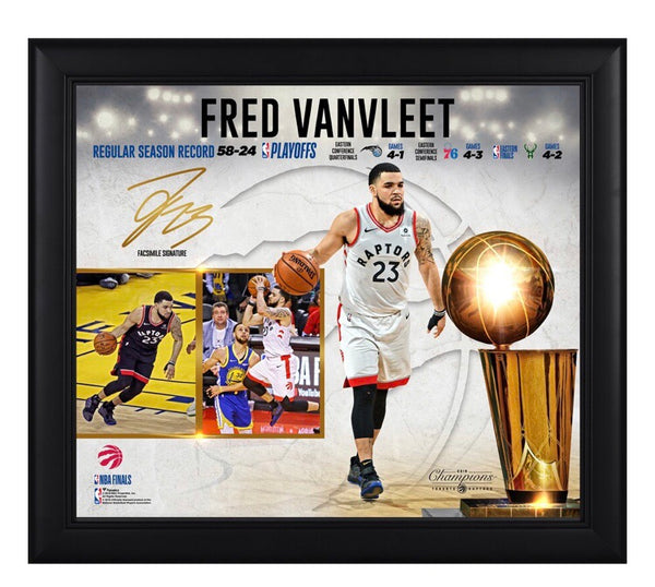 Fred VanVleet - Toronto Raptors - 2019 Champion Framed Collage (38cm x 43cm)