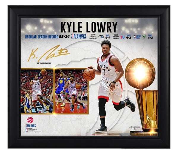 Kyle Lowry - Toronto Raptors - 2019 Champion Framed Collage (38cm x 43cm)