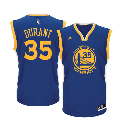 ef47ddbdda0 Kevin Durant - Golden State Warriors - Road Rep. Jersey