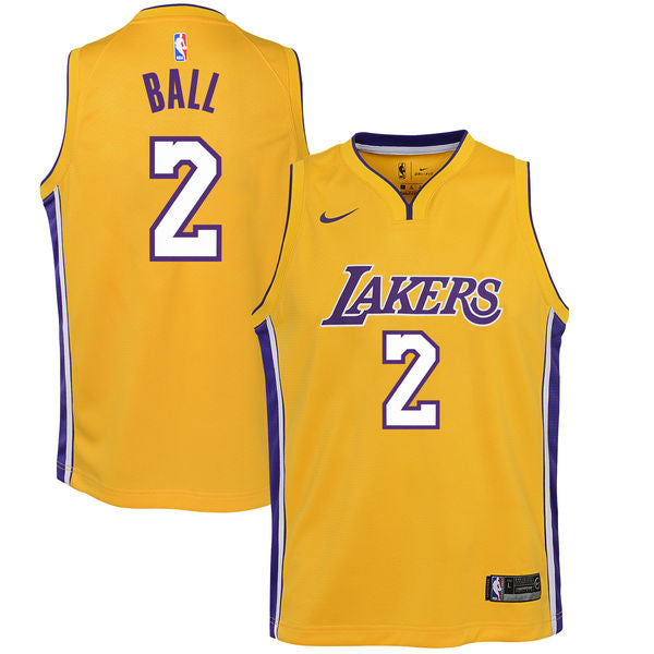 f8f53ebb Lonzo Ball - Los Angeles Lakers - Nike NBA Youth Swingman Jersey
