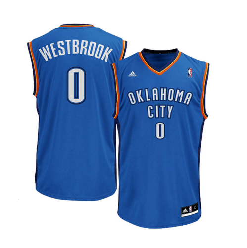 Russell Westbrook - Oklahoma City Thunder - Adidas Road Rep. Jersey