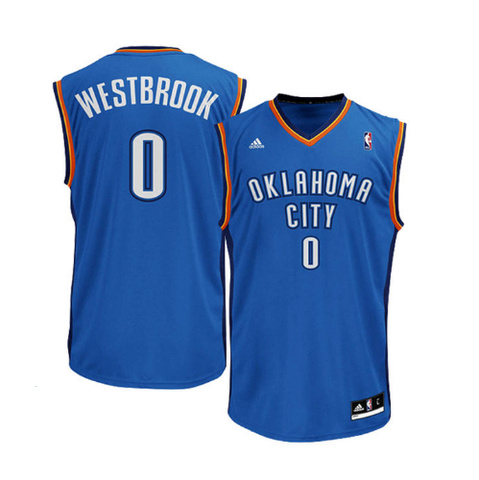 Russell Westbrook - Oklahoma City Thunder - Road Rep. Jersey e7bd74286