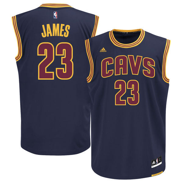 LeBron James - Cleveland Cavaliers - Adidas Alternate Rep. Jersey