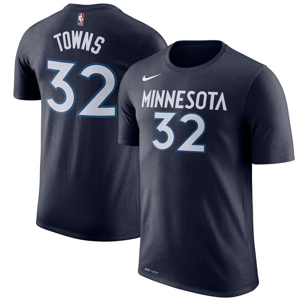 Karl-Anthony Towns - Minnesota Timberwolves - Performance Player T-Shirt (Blue)