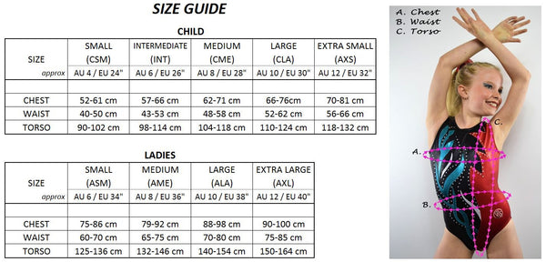 RS Gymwear Size Guide 2017