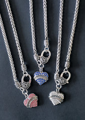 RS Gymwear Australia. Crystal heart necklace. Gymnast necklace.