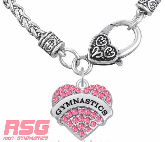 RSG Gymnast Necklace - RS Gymwear Australia - Pink