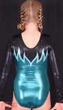 RSG-214 RS Gymwear long sleeve leotard Emerald blue Australia