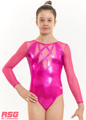 RS Gymwear, Long Sleeve Leotard RSG-235, Olena Pink, Australia
