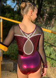 RS Gymwear Australia. RSG-238 Caitlin Cherry long sleeve leotard.
