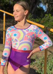 RSG-242 3qtr Sleeve leotard - Rosie Grape