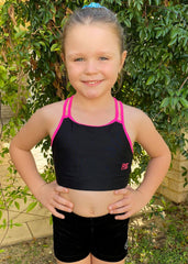 RS Gymwear Australia, RSG-321 Sunny Black crop top