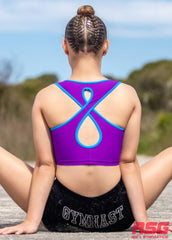 RS Gymwear Australia. RSG-325 Lotus Purple Crop Top.