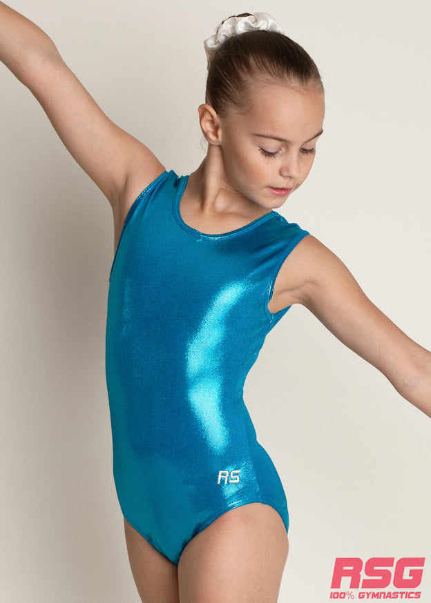 RSG-421 Sleeveless Leotard - Ocean Blue