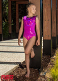 RS Gymwear, Sleeveless leotard, Magenta basic, RSG-443, Australia