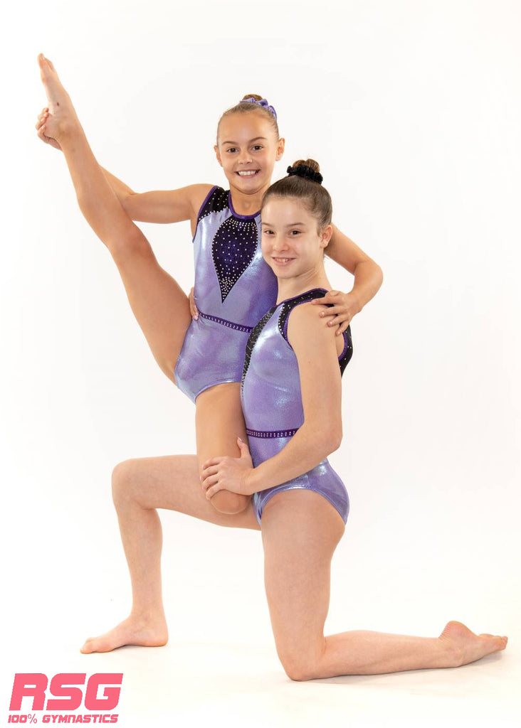 "RSG-450 Sleeveless Leotard ""Wonder"" Periwinkle"