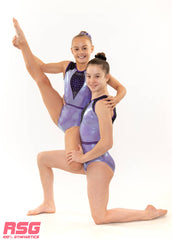 "RS Gymwear, Sleeveless Leotards, ""Wonder"" Periwinkle, RSG-450 Australia"