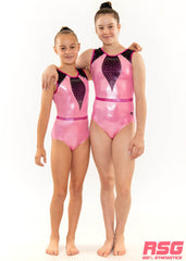 "RS Gymwear, Sleeveless Leotards, ""Wonder"" Pink, RSG-452 Australia"