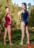RS Gymwear Australia, Burgundy sleeveless leotard, RSG-454
