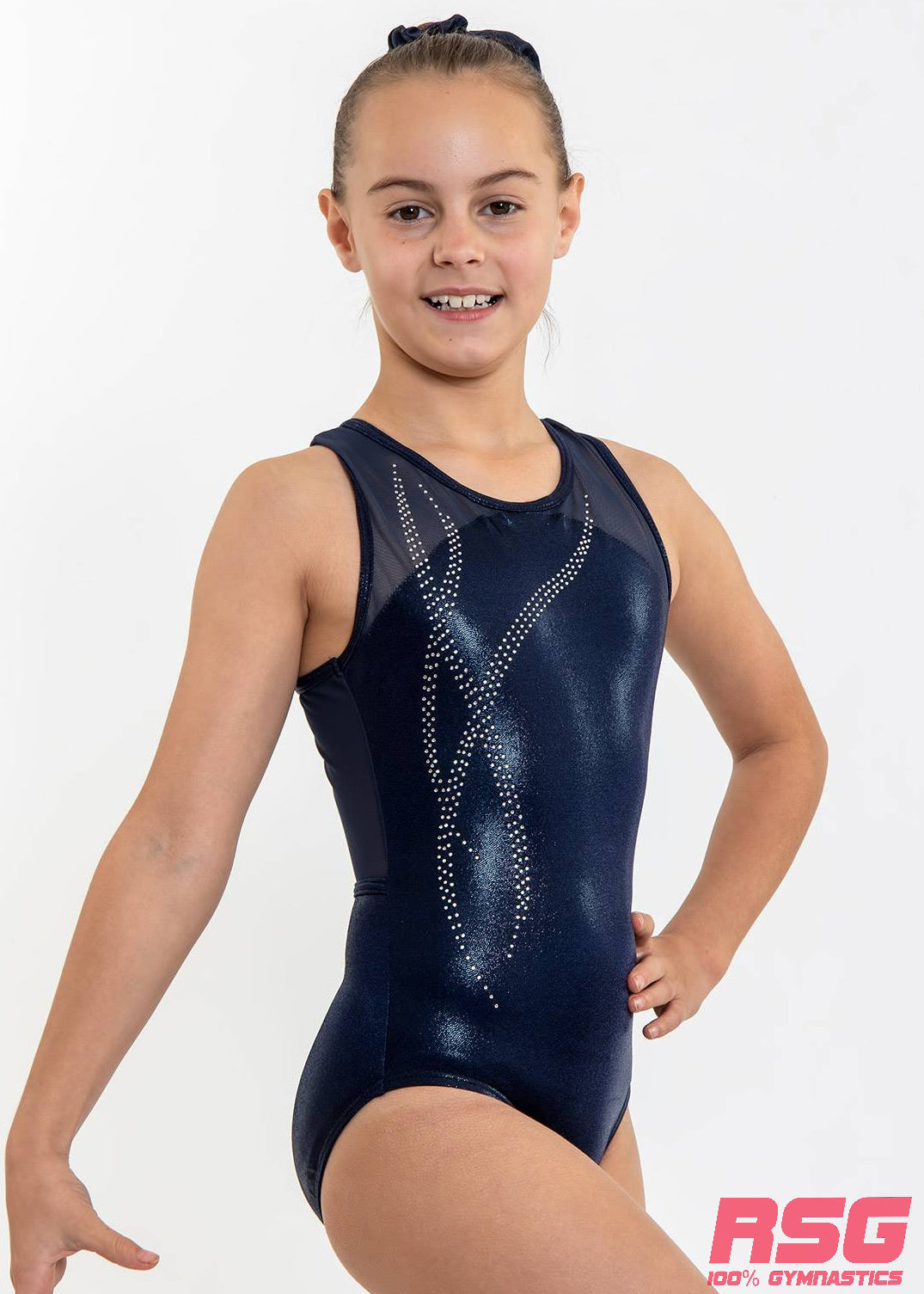 RS Gymwear Australia, Sleeveless leotard, Tilly Navy RSG-460