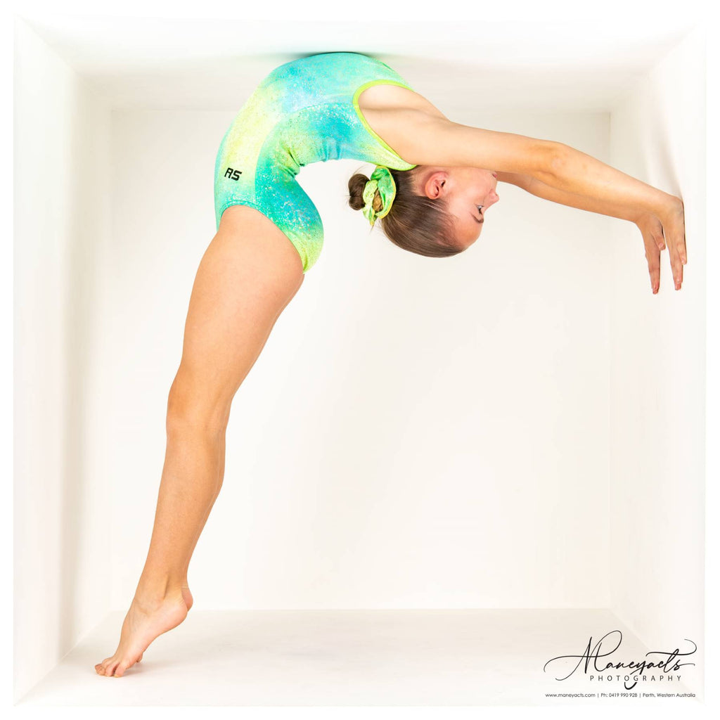 "RSG-462 Sleeveless Leotard ""Lime Sherbert"" Gelato"
