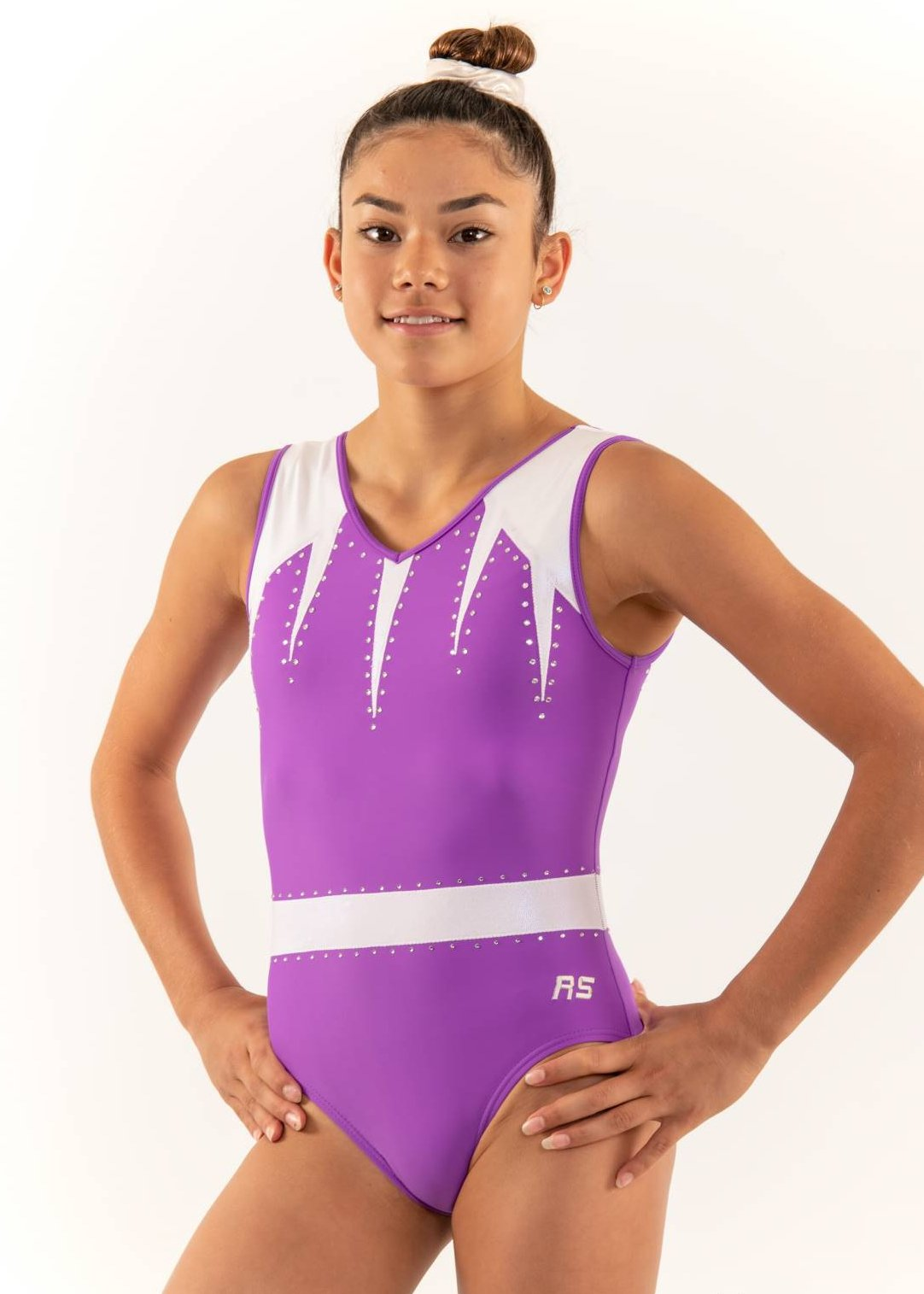 RSG-468 Posie Grape, Sleeveless Leotards, RS Gymwear Australia