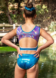 RSG-464 Sleeveless Leotard Tali Blue, RS Gymwear, Leotards Australia