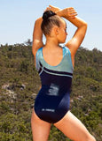 RS Gymwear RS-475 Crossroads Blue, Leotards Australia