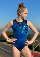 RS Gymwear Australia, RSG-477 Indiana Seaweed Sleeveless Leotard