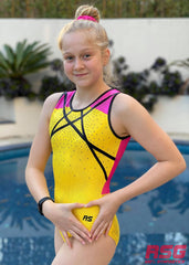 RS Gymwear Australia, RSG-478 Indiana Yellow Sleeveless Leotard