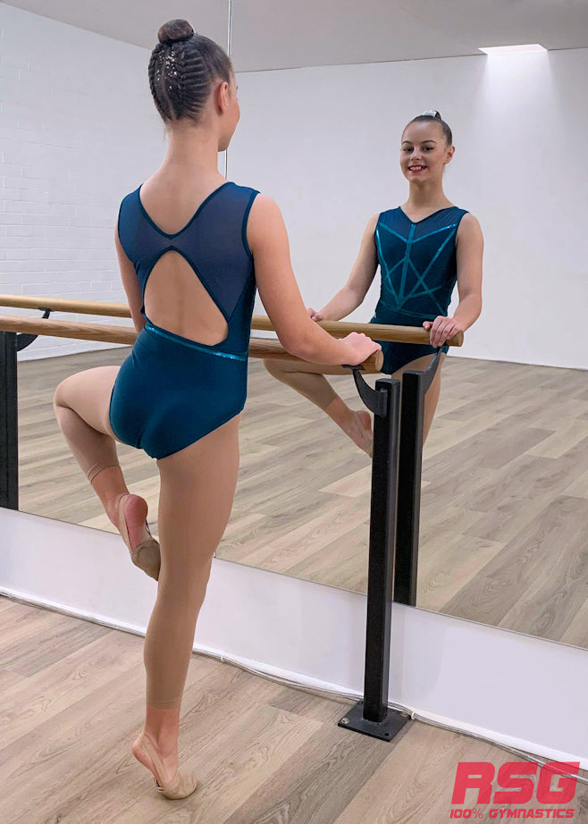 RSG-484 Sleeveless Leotard - Elegance Emerald