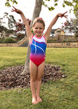 RSG-466 Saskia Bubblegum, Sleeveless Leotards, RS Gymwear Australia