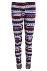 Blushing Tribal Fleece Leggings