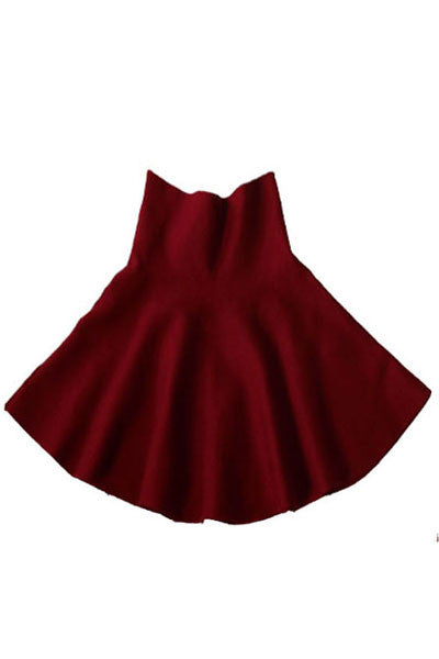 Fine Wine Knit Skater Skirt