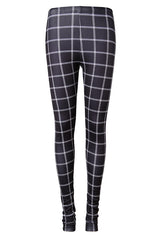 Block Check Basic Fleece Leggings