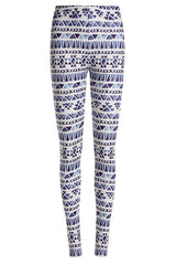 Blue Watercolor Fleece Leggings
