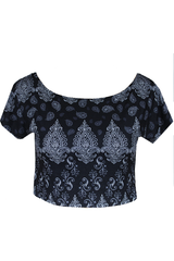 Baroque Twisted Back Cropped Tee