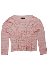 Knitted Throwover in Romantic Pink