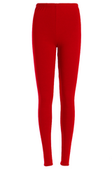 RED FLEECE LEGGINGS