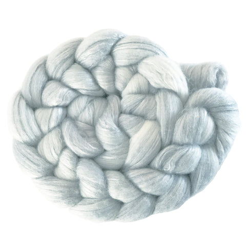 Merino and Silk Sliver  - Ash