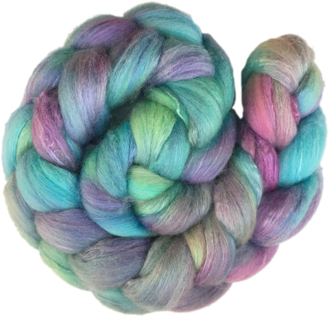 Merino and Silk Sliver  - Abalone