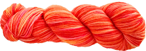 ALLEGRO 4 ply Sock Yarn - orange, pink light multi