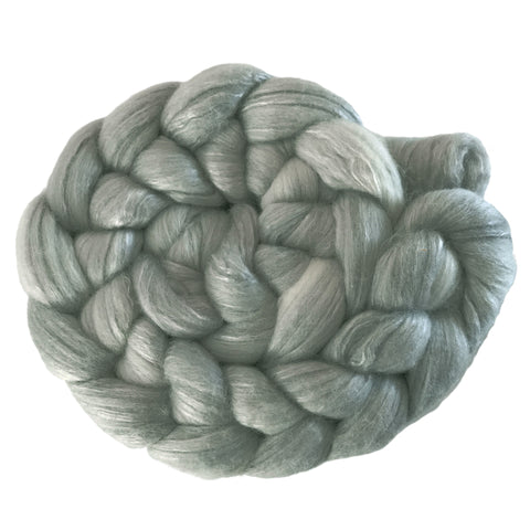Merino and Silk Sliver  - Cloud