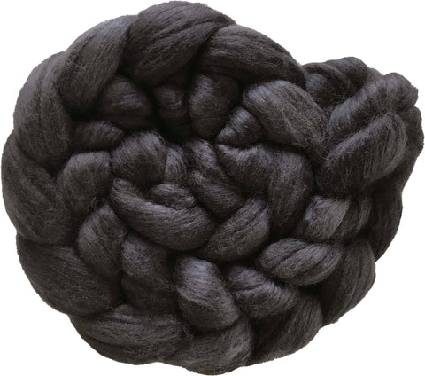 Fine Merino and Silk - Charcoal