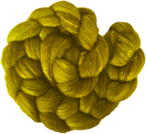 Merino and Silk Sliver  - Chartreuse