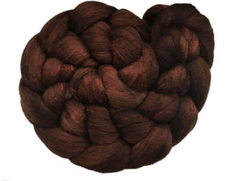 Merino and Silk Sliver  - Chocolate