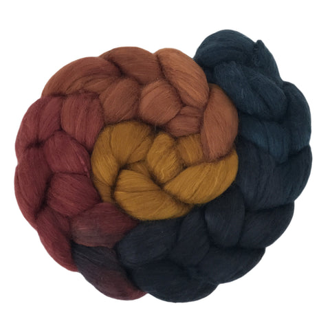 Fine Merino and Silk - Dark Autumn Gradient