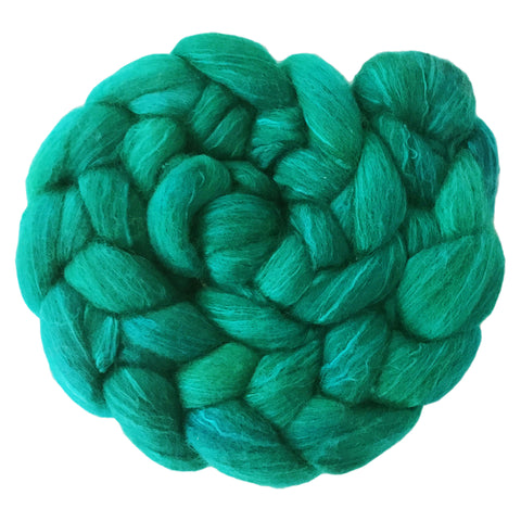 Merino and Silk Sliver  - Emerald