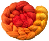 Fine Merino and Silk Sliver - Flames Gradient